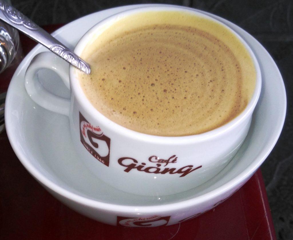 Cà phê trứng tại Giảng cà phê