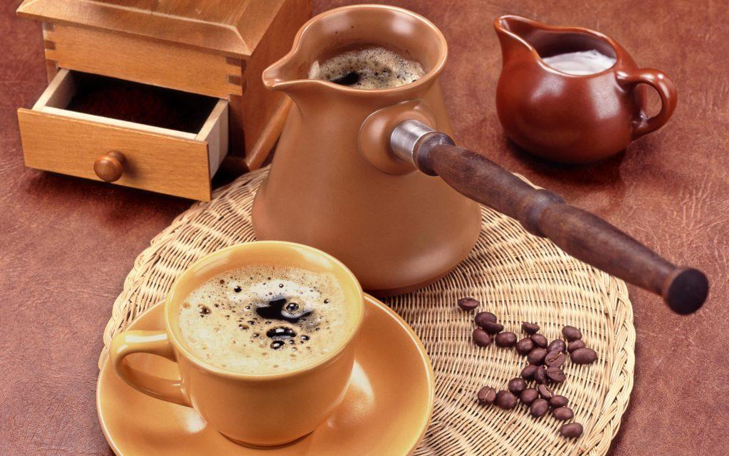 nấu sôi cà phê
