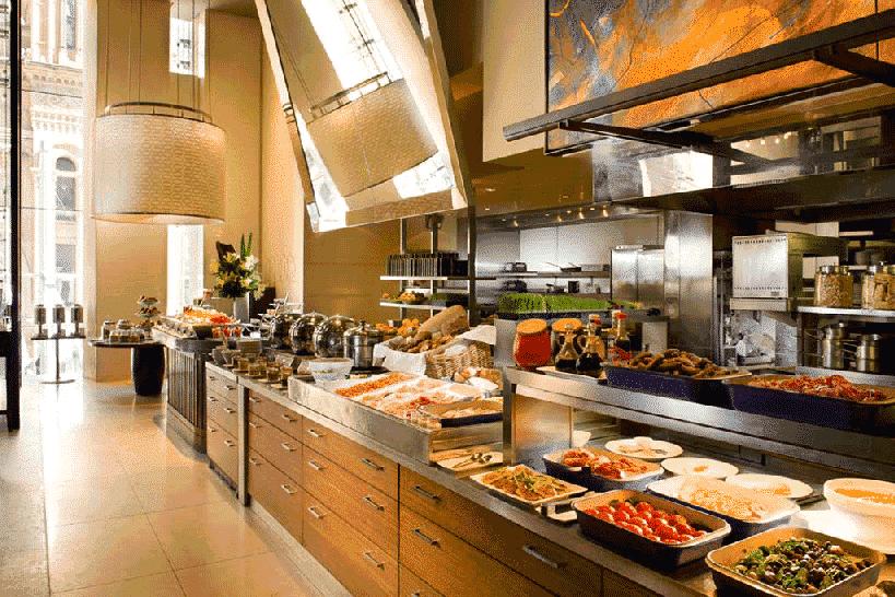 Máy pha cafe cho nhà hàng buffet ăn sáng